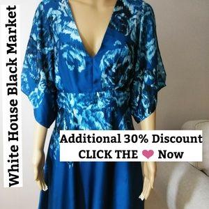 WHBM, V Neck, Cold Shoulder Dress Sz 6